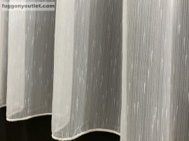 Készre vartt függöny ( Celensimafeher3)300cm szeles 260cm magas  sima Lenesvoile fehér színű