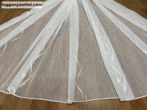 Készre vartt függöny 300cm szeles 210cm magas Lenesvoile fehér alapon fehér